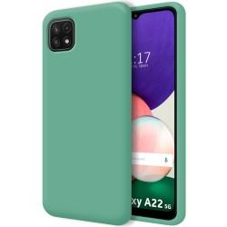 Funda Silicona Líquida Ultra Suave para Samsung Galaxy A22 5G color Verde