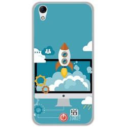 Funda Gel Tpu para Homtom HT16 / HT16 Pro Diseño Cohete Dibujos