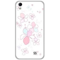 Funda Gel Tpu para Homtom HT16 / HT16 Pro Diseño Flores Minimal Dibujos