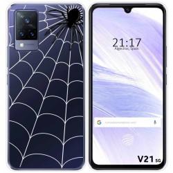Funda Silicona Transparente para Vivo V21 5G diseño Araña Dibujos