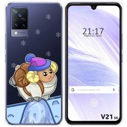 Funda Silicona Transparente para Vivo V21 5G diseño Cabra Dibujos