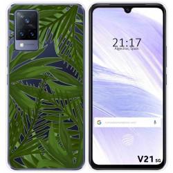 Funda Silicona Transparente para Vivo V21 5G diseño Jungla Dibujos