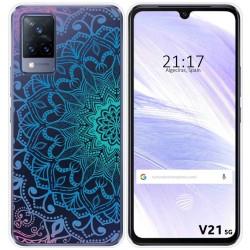 Funda Silicona Transparente para Vivo V21 5G diseño Mandala Dibujos