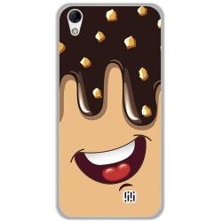 Funda Gel Tpu para Homtom HT16 / HT16 Pro Diseño Helado Chocolate Dibujos
