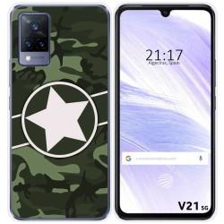 Funda Silicona para Vivo V21 5G diseño Camuflaje 01 Dibujos
