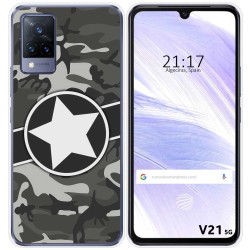 Funda Silicona para Vivo V21 5G diseño Camuflaje 02 Dibujos