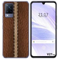 Funda Silicona para Vivo V21 5G diseño Cuero 01 Dibujos