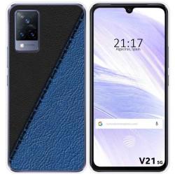 Funda Silicona para Vivo V21 5G diseño Cuero 02 Dibujos