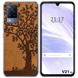 Funda Silicona para Vivo V21 5G diseño Cuero 03 Dibujos