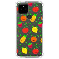 Funda Silicona Antigolpes para Google Pixel 5 5G diseño Frutas 01 Dibujos
