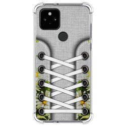 Funda Silicona Antigolpes para Google Pixel 5 5G diseño Zapatillas 08 Dibujos