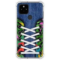 Funda Silicona Antigolpes para Google Pixel 5 5G diseño Zapatillas 13 Dibujos