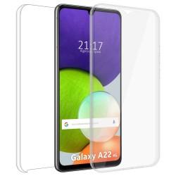 Funda Completa Transparente Pc + Tpu Full Body 360 para Samsung Galaxy A22 4G