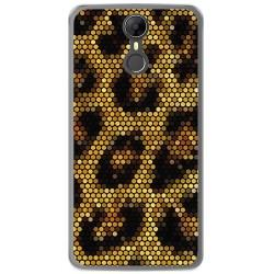 Funda Gel Tpu para Homtom HT27 Diseño Leopardo Dibujos