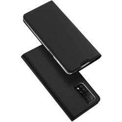 Funda Piel Soporte Magnética Dux Ducis para Xiaomi Mi 10T 5G / MI 10T Pro 5G color Negra