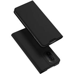 Funda Piel Soporte Magnética Dux Ducis para Xiaomi POCO F3 5G / Mi 11i 5G color Negra