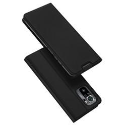 Funda Piel Soporte Magnética Dux Ducis para Xiaomi Redmi Note 10 / 10S color Negra