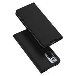Funda Piel Soporte Magnética Dux Ducis para Xiaomi Redmi Note 10 Pro color Negra
