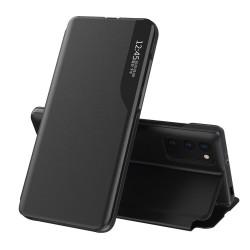 Funda Libro Soporte Magnética Eco Piel con Ventana para Xiaomi POCO M3 / Redmi 9T Negra
