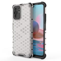 Funda Tipo Honeycomb Armor (Pc+Tpu) Transparente para Xiaomi Redmi Note 10 / 10S