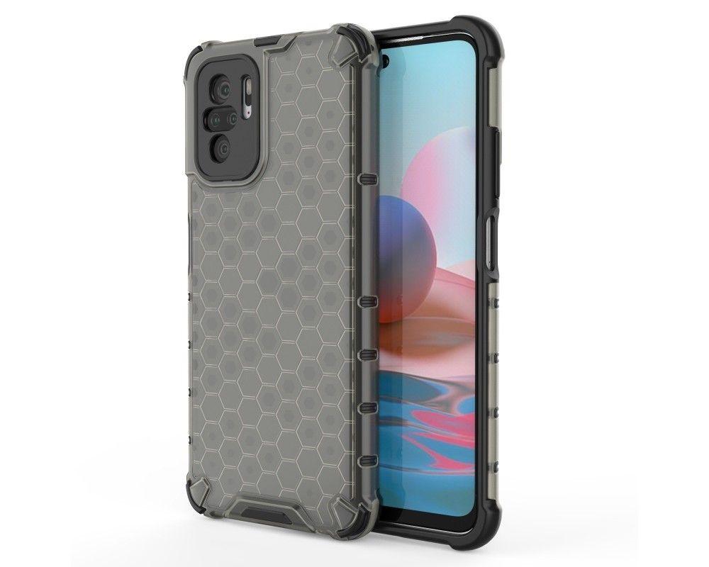 Funda Tipo Honeycomb Armor (Pc+Tpu) Negra para Xiaomi Redmi Note 10 / 10S
