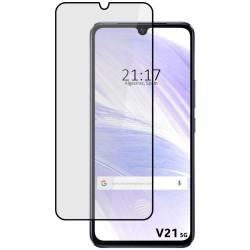 Protector Cristal Templado Completo 5D Full Glue Negro para Vivo V21 5G Vidrio
