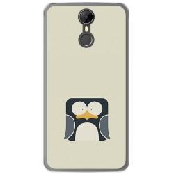 Funda Gel Tpu para Homtom HT27 Diseño Pingüino Dibujos