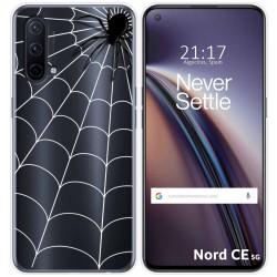 Funda Silicona Transparente para OnePlus Nord CE 5G diseño Araña Dibujos