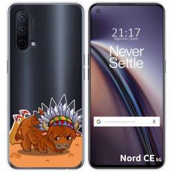 Funda Silicona Transparente para OnePlus Nord CE 5G diseño Bufalo Dibujos