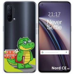 Funda Silicona Transparente para OnePlus Nord CE 5G diseño Coco Dibujos