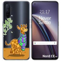 Funda Silicona Transparente para OnePlus Nord CE 5G diseño Jirafa Dibujos