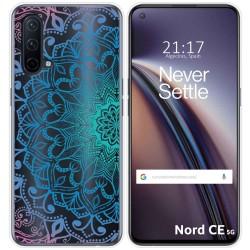Funda Silicona Transparente para OnePlus Nord CE 5G diseño Mandala Dibujos