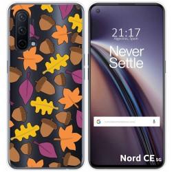 Funda Silicona Transparente para OnePlus Nord CE 5G diseño Otoño Dibujos