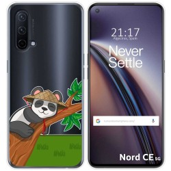 Funda Silicona Transparente para OnePlus Nord CE 5G diseño Panda Dibujos