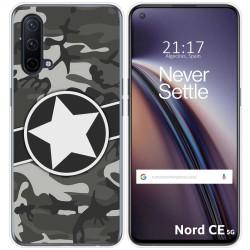 Funda Silicona para OnePlus Nord CE 5G diseño Camuflaje 02 Dibujos