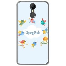 Funda Gel Tpu para Homtom HT27 Diseño Spring Birds Dibujos