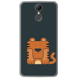 Funda Gel Tpu para Homtom HT27 Diseño Tigre Dibujos