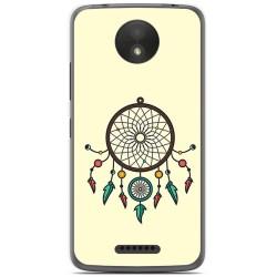 Funda Gel Tpu para Motorola Moto C Plus Diseño Atrapasueños Dibujos