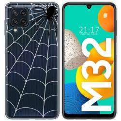Funda Silicona Transparente para Samsung Galaxy M32 diseño Araña Dibujos