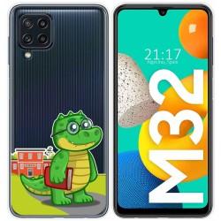 Funda Silicona Transparente para Samsung Galaxy M32 diseño Coco Dibujos