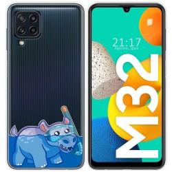 Funda Silicona Transparente para Samsung Galaxy M32 diseño Hipo Dibujos