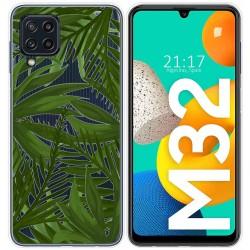 Funda Silicona Transparente para Samsung Galaxy M32 diseño Jungla Dibujos