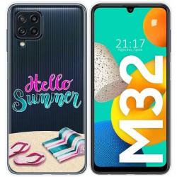 Funda Silicona Transparente para Samsung Galaxy M32 diseño Summer Dibujos