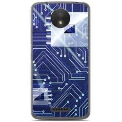 Funda Gel Tpu para Motorola Moto C Plus Diseño Circuito Dibujos