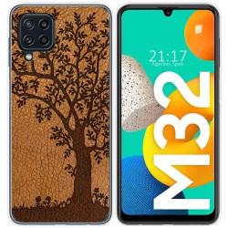 Funda Silicona para Samsung Galaxy M32 diseño Cuero 03 Dibujos