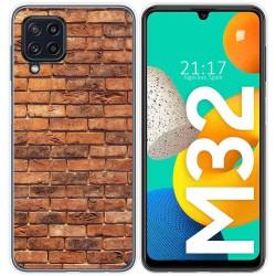 Funda Silicona para Samsung Galaxy M32 diseño Ladrillo 04 Dibujos