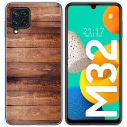 Funda Silicona para Samsung Galaxy M32 diseño Madera 02 Dibujos