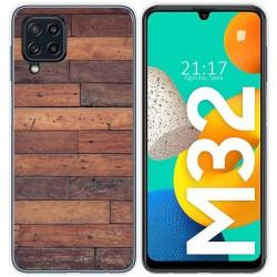 Funda Silicona para Samsung Galaxy M32 diseño Madera 03 Dibujos