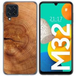 Funda Silicona para Samsung Galaxy M32 diseño Madera 04 Dibujos