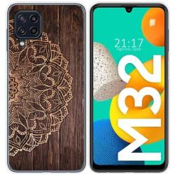 Funda Silicona para Samsung Galaxy M32 diseño Madera 06 Dibujos